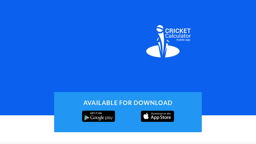 Cricket Calculator Landing Page