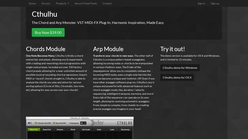 Cthulhu Landing Page