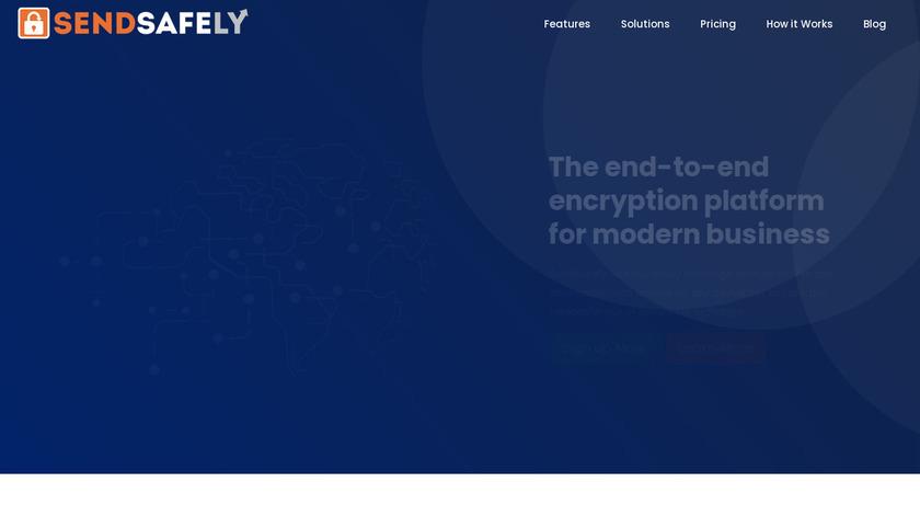 SendSafely Landing Page