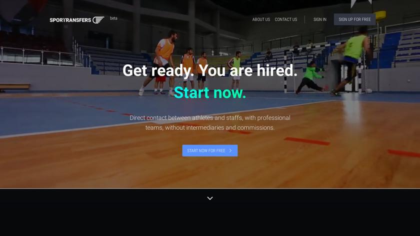 Sportransfers Landing Page