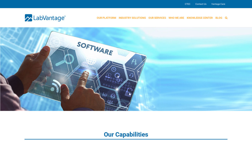 LabVantage Landing Page