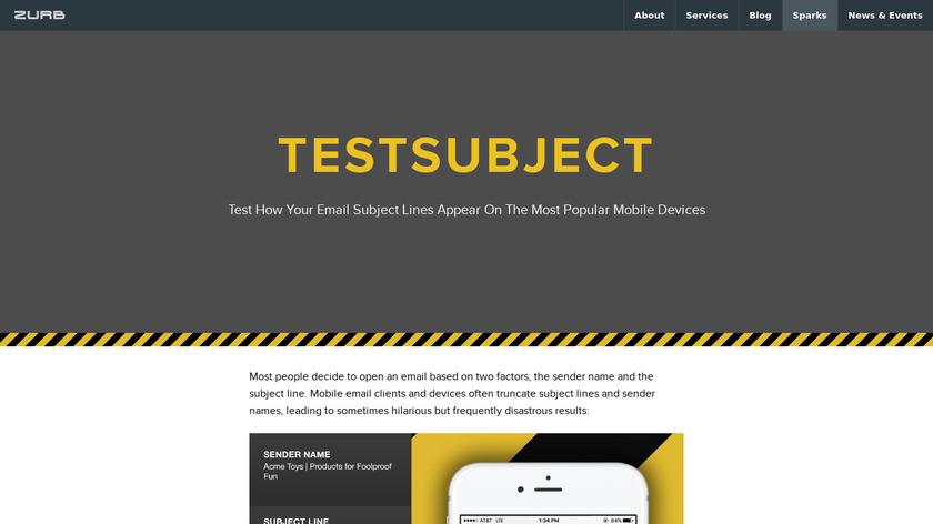 TestSubject Landing Page