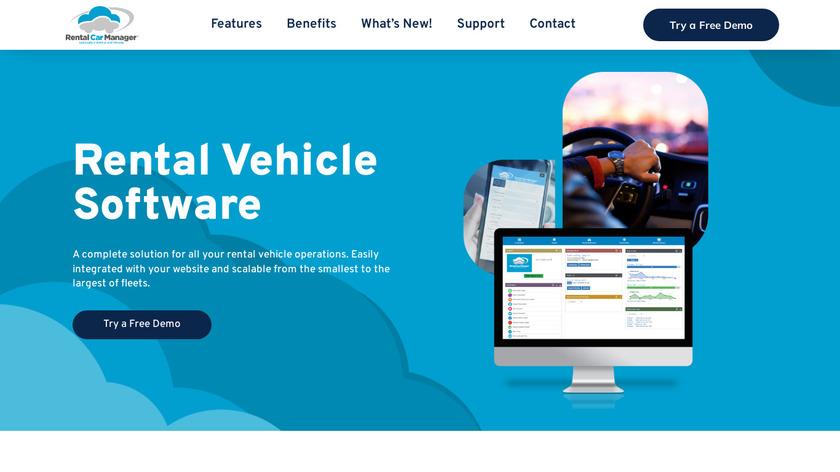 Rental Car Manager Landing Page