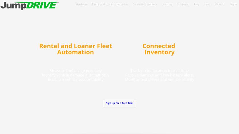 JumpDrive Landing Page