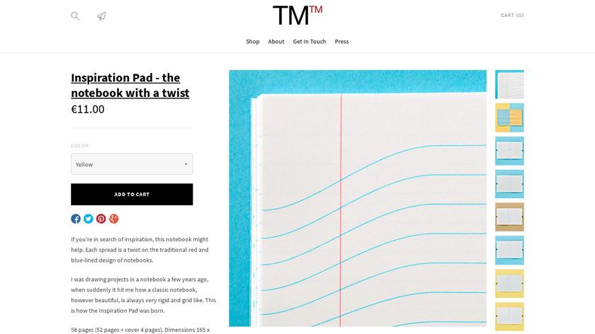 Inspiration Pad Landing Page