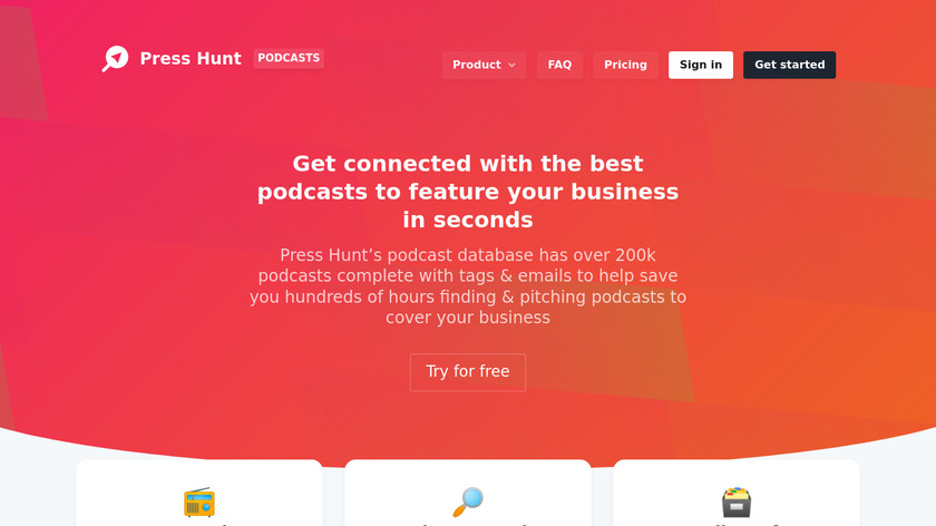 Podcast List Landing Page