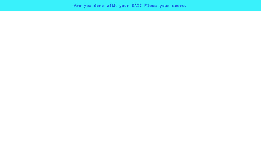 Floss Your Score Landing Page