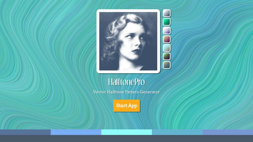 HalftonePro Landing Page