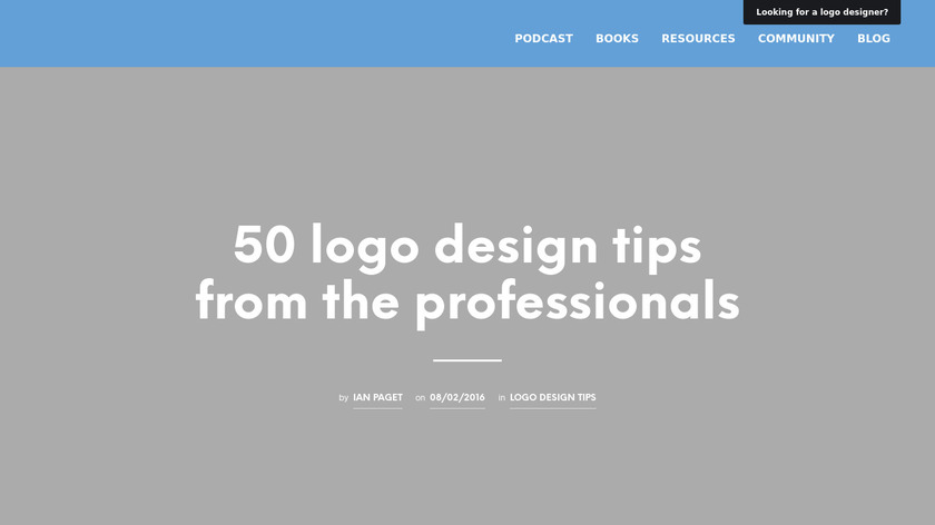 50 Logo Design Tips Landing Page
