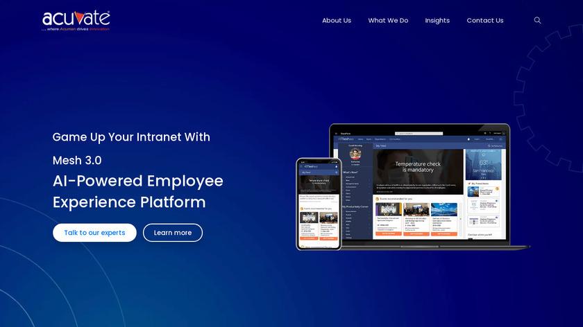Mesh Intranet Landing Page