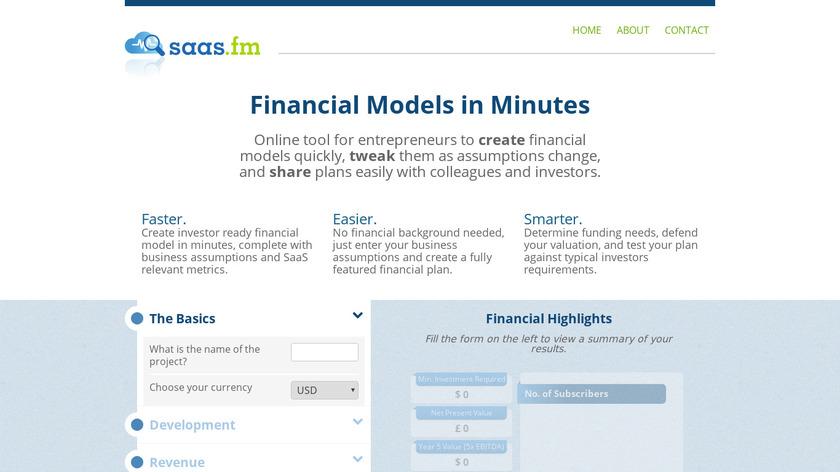 SaaS FM Landing Page