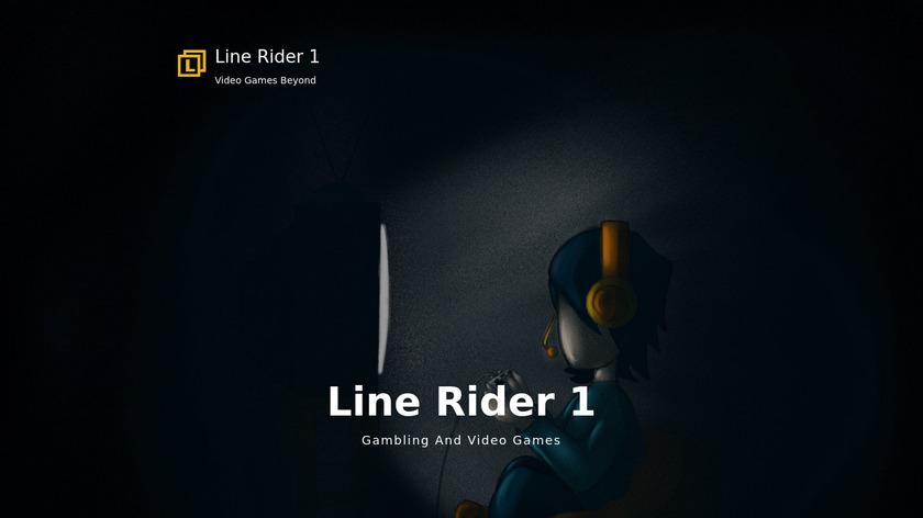 Line Rider Landing Page