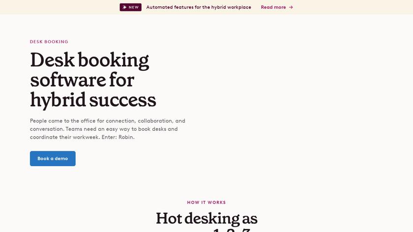Robin Desks Landing Page