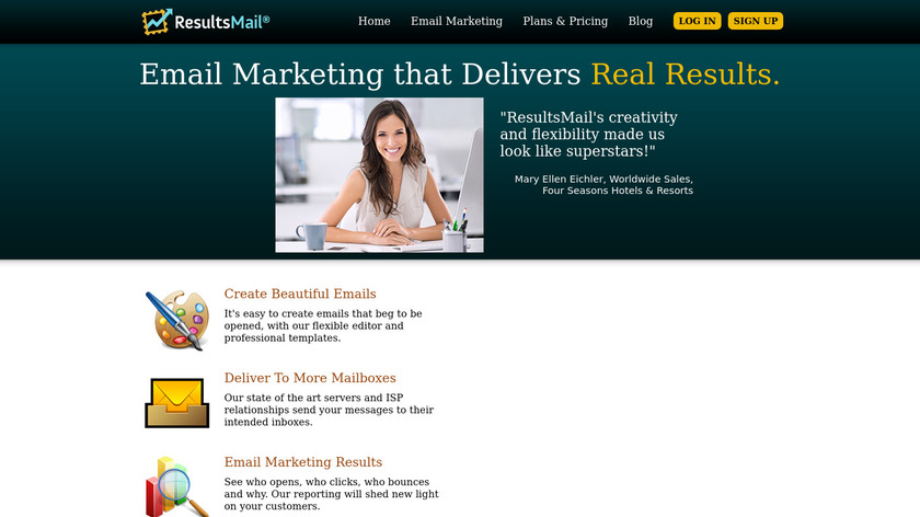 ResultsMail Landing Page