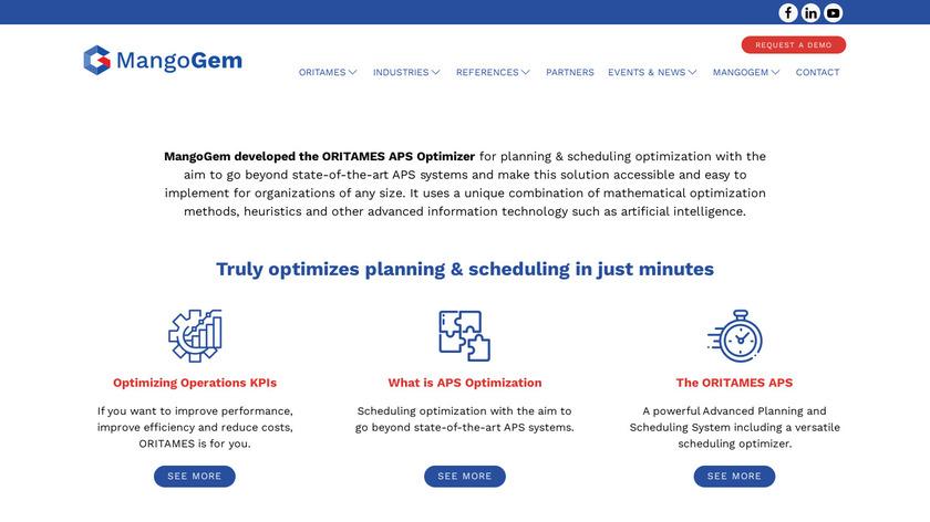 ORITAMES Landing Page