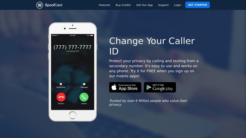 SpoofCard Landing Page