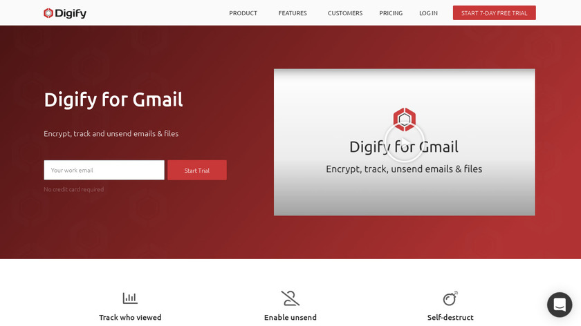 Digify for Gmail Landing Page