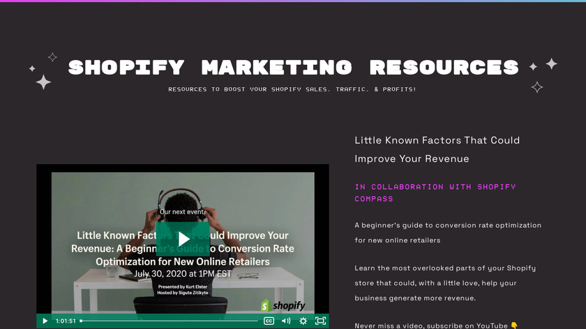 Ecommerce Bootcamp Landing Page