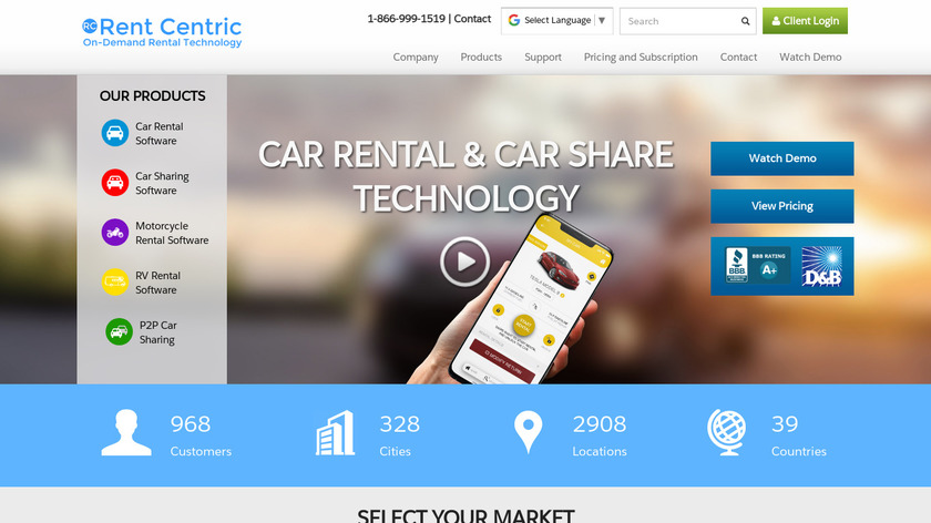 Rent Centric Landing Page