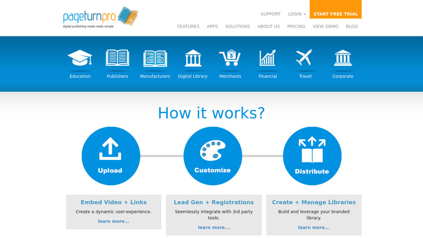 PageTurnPro Landing Page
