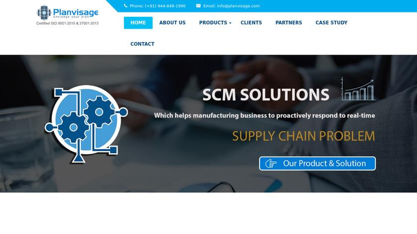 Planvisage SCM Landing Page