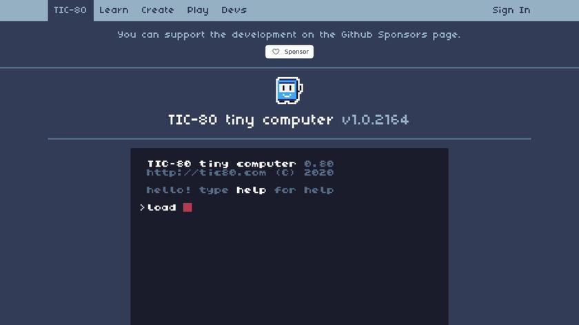 TIC-80 Landing Page