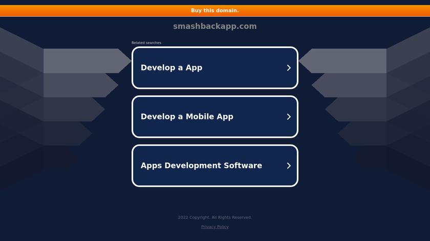 SmashBack Landing Page