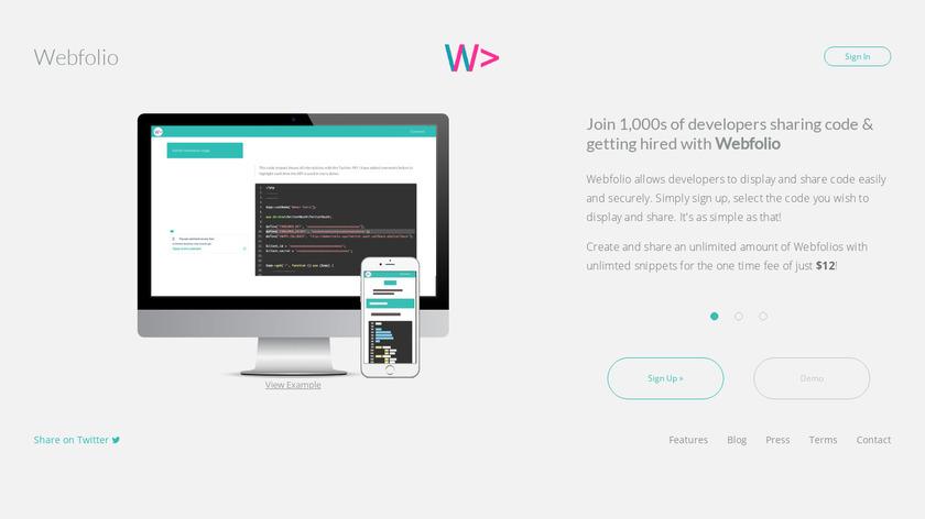 Webfolio Landing Page