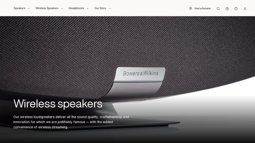 A7 Wireless Speaker Landing Page