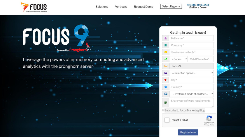 Focus 9 by Pronghorn Landing Page