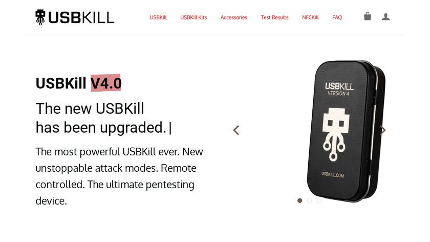 USB Killer Landing Page