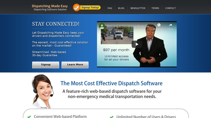 Dispatching Made Easy Landing Page