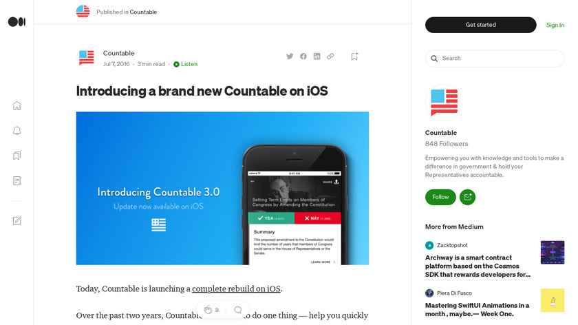 Countable 3.0 for iOS Landing Page