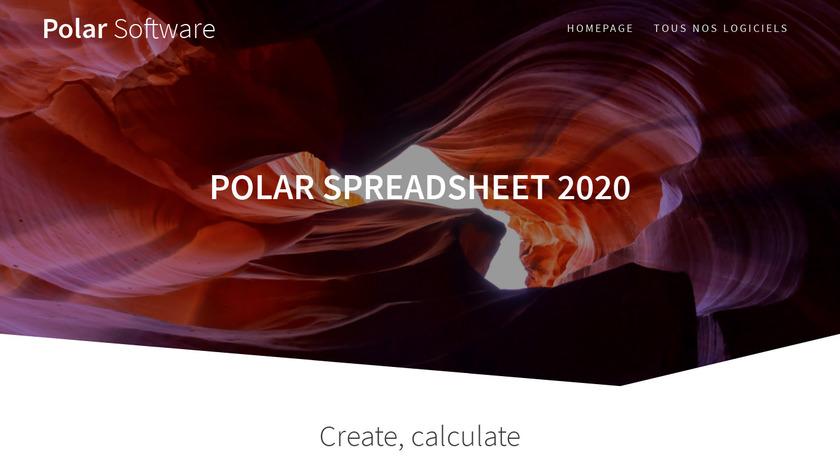 Polar SpreadSheet 2020 Landing Page