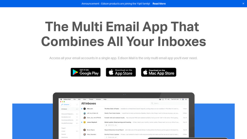 Edison Mail Landing Page