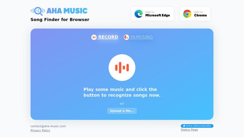 AHA Music Landing Page