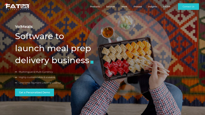YoMeals Landing Page