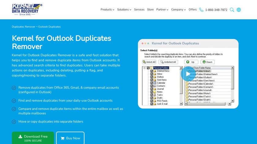 Kernel for Outlook Duplicates Landing Page