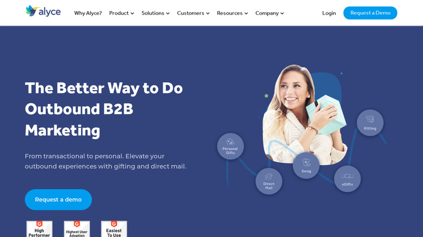 Alyce Landing Page