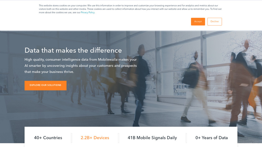 Mobilewalla Landing Page