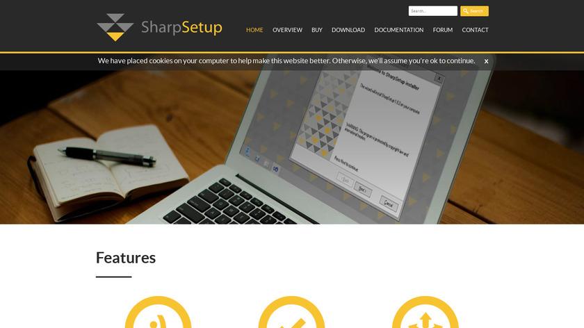 SharpSetup Landing Page