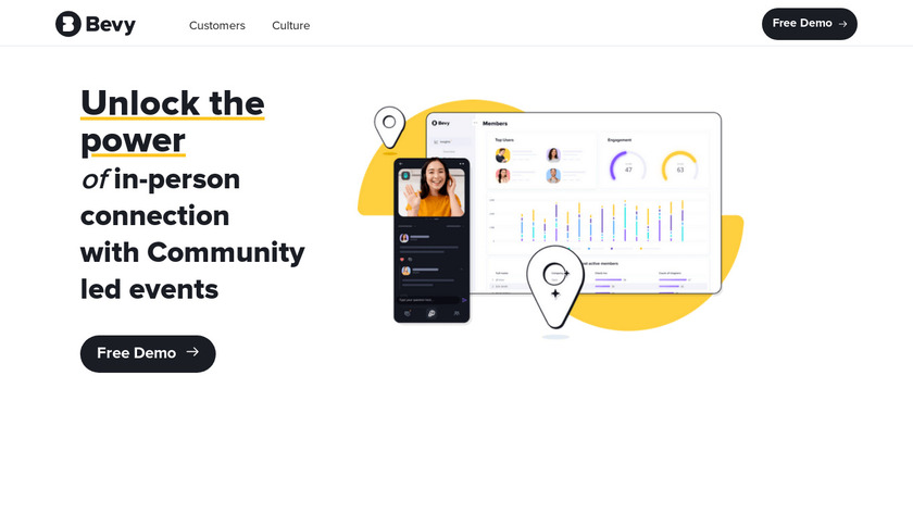 Bevy Landing Page