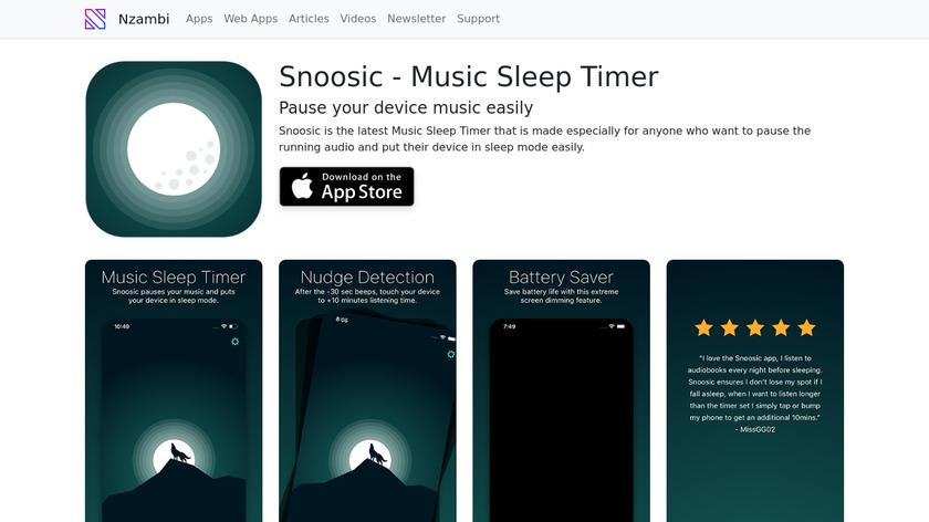Snoosic Landing Page