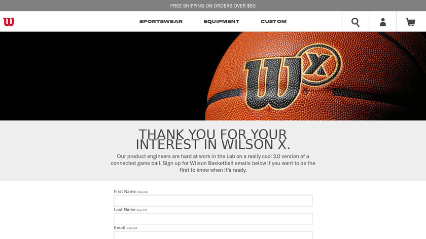 Wilson X Connected Football Landing Page