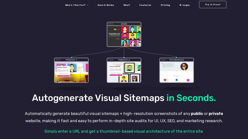 VisualSitemaps Landing Page