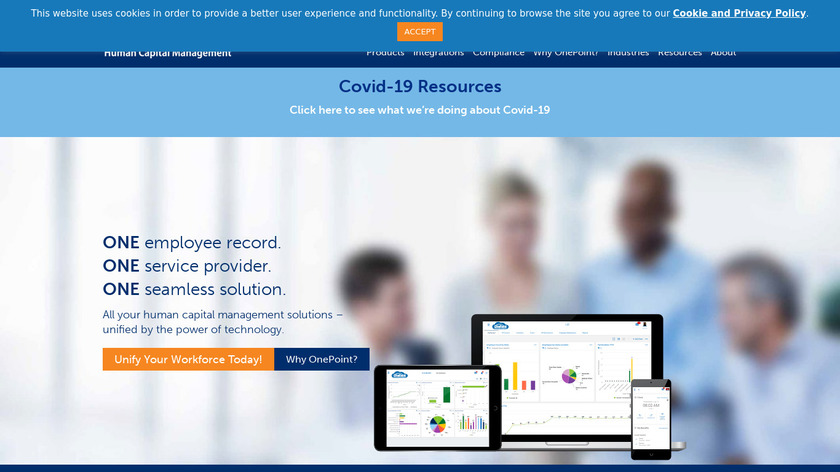 OnePoint Human Capital Management Landing Page
