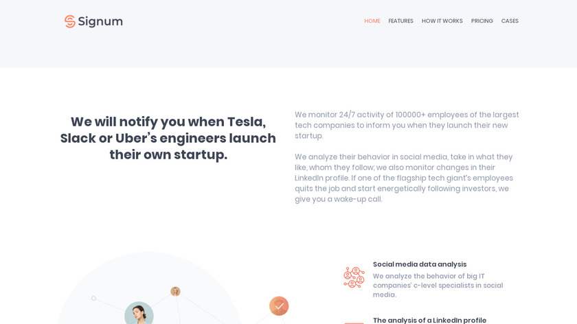 Signum Startup Tracker Landing Page