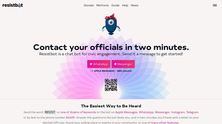 ResistBot Landing Page
