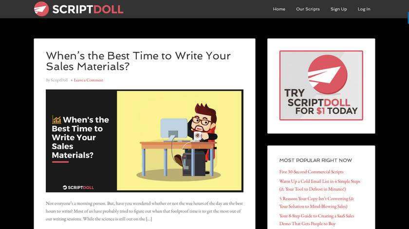 ScriptDoll Landing Page