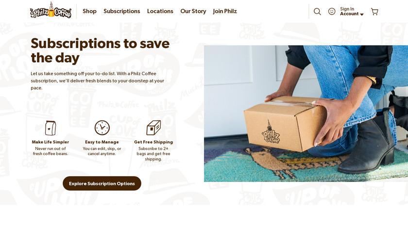 Philz Coffee Subscription Landing Page